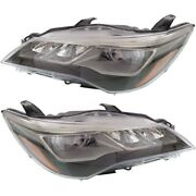 Headlight Set For 2015-2017 Toyota Camry Xse Left And Right Led With Bulb 2pc