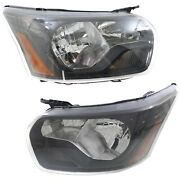 Headlight For 2015 Ford Transit-250 Pair Lh And Rh Black Capa