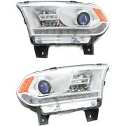 Headlight Set For 2014-2015 Dodge Durango Left And Right With Bulb 2pc