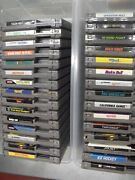 Lot Of 30 Nintendo Nes Games Contra Punch Out Topgun Double Dragon Warrior Joust