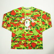 Bathing Ape Basing 21aw Sta Camo College L/s Tee Psychesal Camouflage Pattern