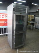 Traulsen Rht132wut-hhg 30 2 Section Glass Door Refrigerator On Casters