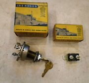 Vintage Car Truck 3 Position 6 Or 12 Volt Cole-hersee Ignition Switch + Breaker