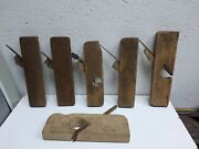 Vtg Wood Smooth Hand Plane Antique Russian Scrub Jointer Jack Planer Ussr Iron