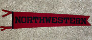 """Vintage Antique Northwestern Early 1900s Football Sports Pennant Full Size 41"""""""
