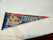 Sweet 1993 Toronto Blue Jays World Series Champs Player Picture Pennant, Nice