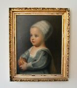 19th Century Victorian Painting Of James Ii As A Boy After Van Dyck