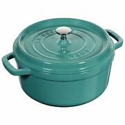 Staub Cast Iron 4.0 Qt Dutch Oven French Cocotte Turquoise New In Box
