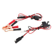 2 Pieces Battery Alligator Clip And 2 Ring Terminal To Sae 2 Pin Fuse Cables