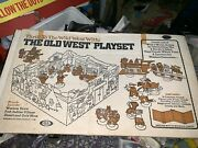 Vintage 1970s Ideal Toys Mint Unused The Old West Playset With Sealed Contents