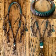 Paracord Duck Goose Waterfowl Call Lanyard Brown And Green With Mallard Finisher