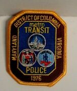 District Of Columbia Metro Transit Virginia Maryland  Police Officer Patch
