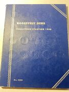 Whitman Roosevelt Dime Collection Starting 1946 Folder With 57 Coins 1946-1964