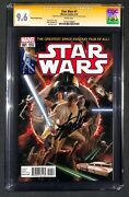 Stan Lee 1st Day Marvel Star Wars 1 Comic Book Signed Autographed Cgc 9.6