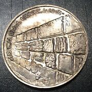 Israel 10 Lirot Je 5727 Ad 1967 Silver Wailing Wall Proof Toning As Shown