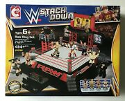 Wwe Stack Down Universe Raw Ring Set 21032 The Rock Daniel Bryan And More New