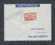 Algeria 1947 And 1951 2 Air France 1st Flight Covers Alger To Colomb Bechar Andparis