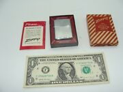 Extremely Rare Vintage Zippo Genuine Lighter - 200 Chrome With Box - 1950's