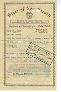 1965 Volkswagen Beetle Sun Roof Signed New Jersey Title Historical Document