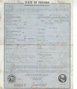 1967 Dodge Charger 2 Door Ht Fastback Indiana Title Signed Historical Document