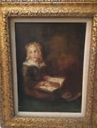 Rare Antique Oil Painting On Canvas-signed W.v.d. Vlies And Numbered
