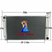 4 Row Radiator Fit 1988-1999 Chevy Gmc C/k 1500 2500 3500 5.0l 5.7l V8 28and039and039 Core