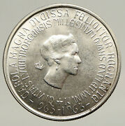 1963 Luxembourg W Grand Dutchess Charlotte Antique Silver 250 Francs Coin I93447