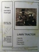 Sears Lt/16 Lawn Tractor And 42 Mower Owner And Parts Manual 502.255190 Murray Hp