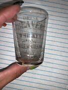 Pre Prohibition Acid Etched Beaver Whiskey Shot Glass