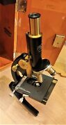 Vintage Rare Brass Microscope Carl Zeiss Jena Germany 197235 Excellent Condition