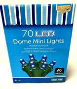 Holiday 70 Blue Led Indoor Outdoor Dome Mini Christmas Lights