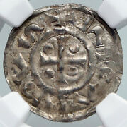 943ad France Archbishopric Normandy Rouen Silver Denier Medieval Ngc Coin I90707