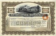 N48605 New York Ontario And Western Railway Company Old Stock Certificate 1934
