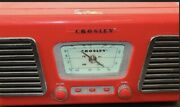 Crosley Authentic Reproduction Cr-711 Am/fm Phonograph Preowned Red Radio