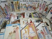 Lot Of 186 Sewing Patterns Mccalland039s Simplicity Butterick Cabbage Patch And Other