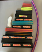 """Lot Of 32 Hot Wheels Track Various Straight W/ 9 Connectors 4-25"""" Inches"""