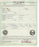 1955 Chevrolet 6100 Semi Tractor Indiana Title Historical Document