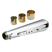 17.5'' Stainless Motocycle Exhaust Muffler Pipe With Sliding Brackets For Honda