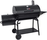 Royal Gourmet Cc2036f Charcoal Barrel Grill With Offset Smoker 1188 Square Inch