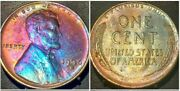 1936 D Lincoln Wheat Penny Cent Unc Beautiful Toning
