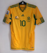 2010 South Africa Home S/s No.10 Pienaar Techfit Player Issue Vs Mexico Jersey
