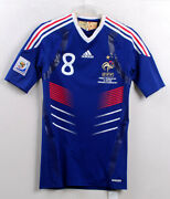 2010-11 France Home S/s No.8 Gourcuff Techfit 2010worldcup Vs South Africa 10-11