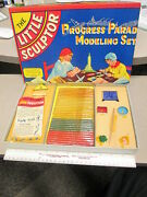 Little Sculptor 1941 Modeling Clay Playset Roy Rogers Empire State Building Mib