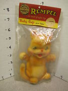 Rempel 1950s Rubber Squeeze Figural Toy Mip Cat Kitten Baby Toy