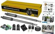 Automatic Gate Opener Kit Stainless Heavy Duty Dual Swing Gate Openers Ac Or