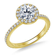 1.00 Ct Round Real Certified Diamond Engagement Ring 14k Yellow Gold Size 4 5