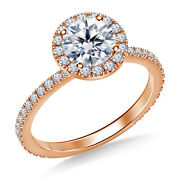 1.00 Ct Round Real Certified Diamond Engagement Ring 14k Rose Gold Size 4 5