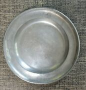 Antique Pewter Charger Signed Joh Georg Dill 1853 19th Century 14.25