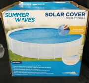 Summer Waves Solar Pool Cover For 16ft Pools Keeps Pool Nice And Warm