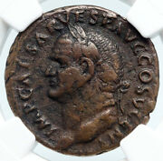 Vespasian Authentic Ancient 74ad Rome Old Silver Roman Coin Aequitas Ngc I89468